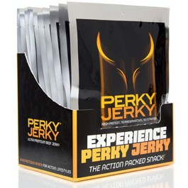 healthy snacks at work include Perky Jerky