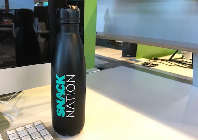 snacknation-branded-water-bottle