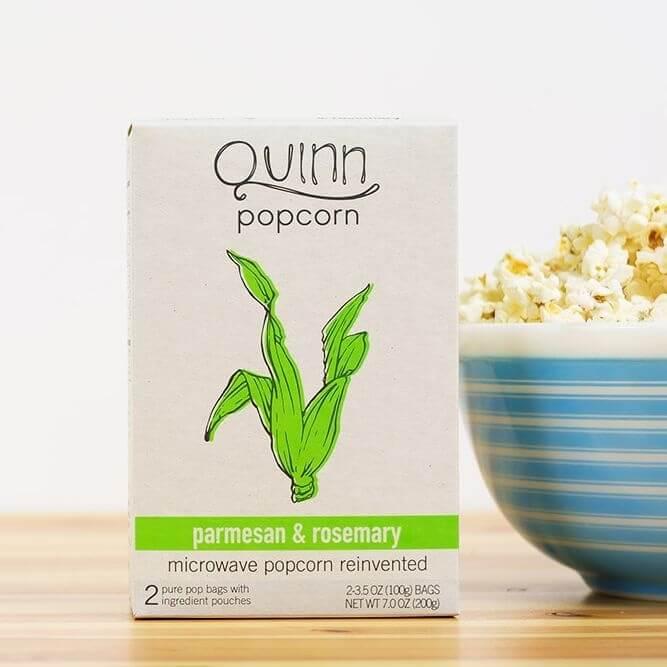 quinns popcorn parmesan & rosemary