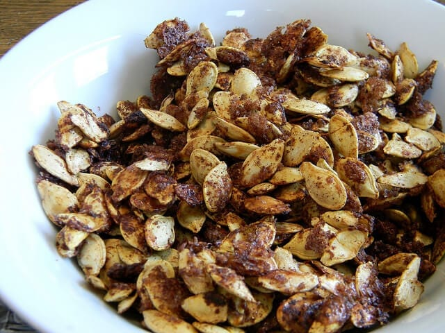 pumpkin seeds - healthy snack idea