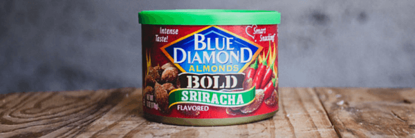 sriracha blue diamond almonds