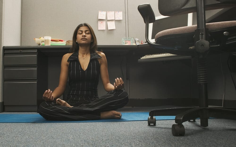 meditation in the office