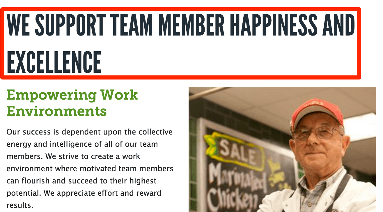 whole foods support employees happiness excellence