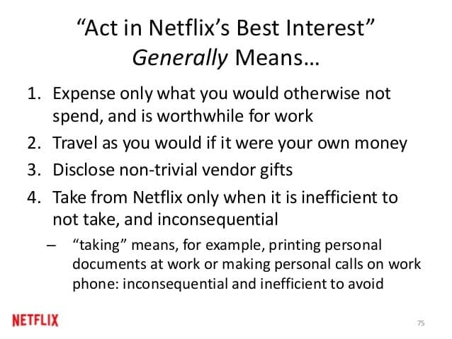 act in netflix best interest