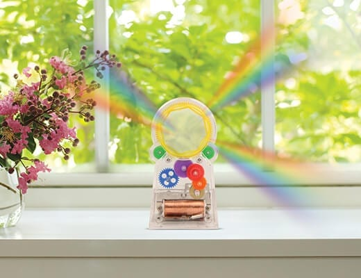 solar powered rainbow-maker