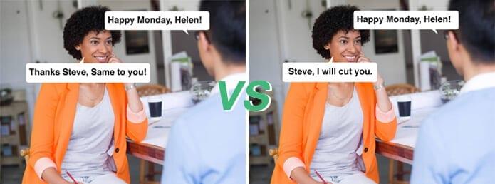 employee morale comparison