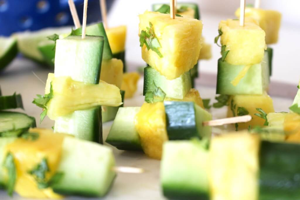 pineapple-cucumber-skewers