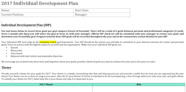 Individual-Development-Plan-screenshot
