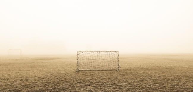 soccer net goal on field