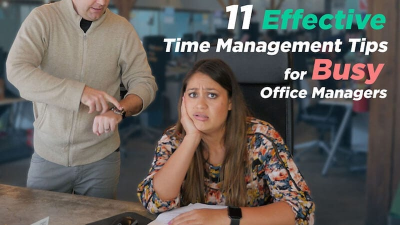 time management tips for office managers