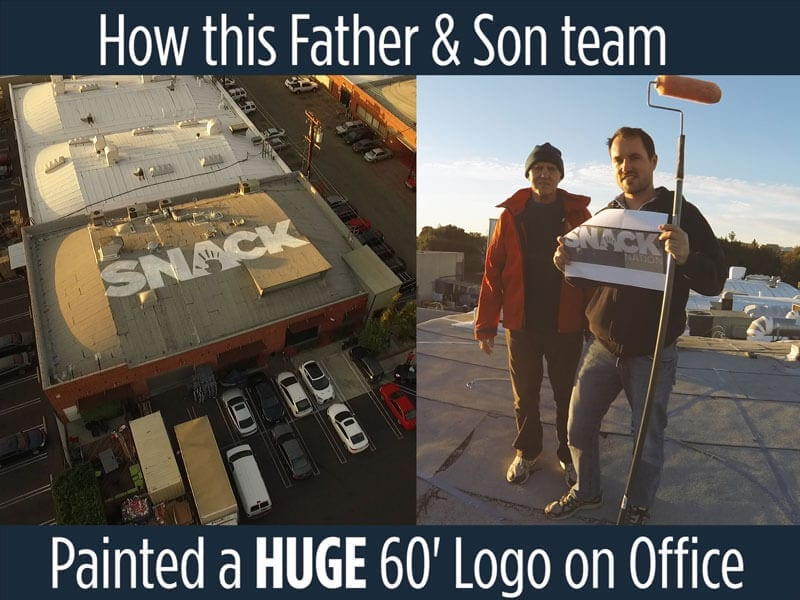 How to Paint a Logo on your Roof