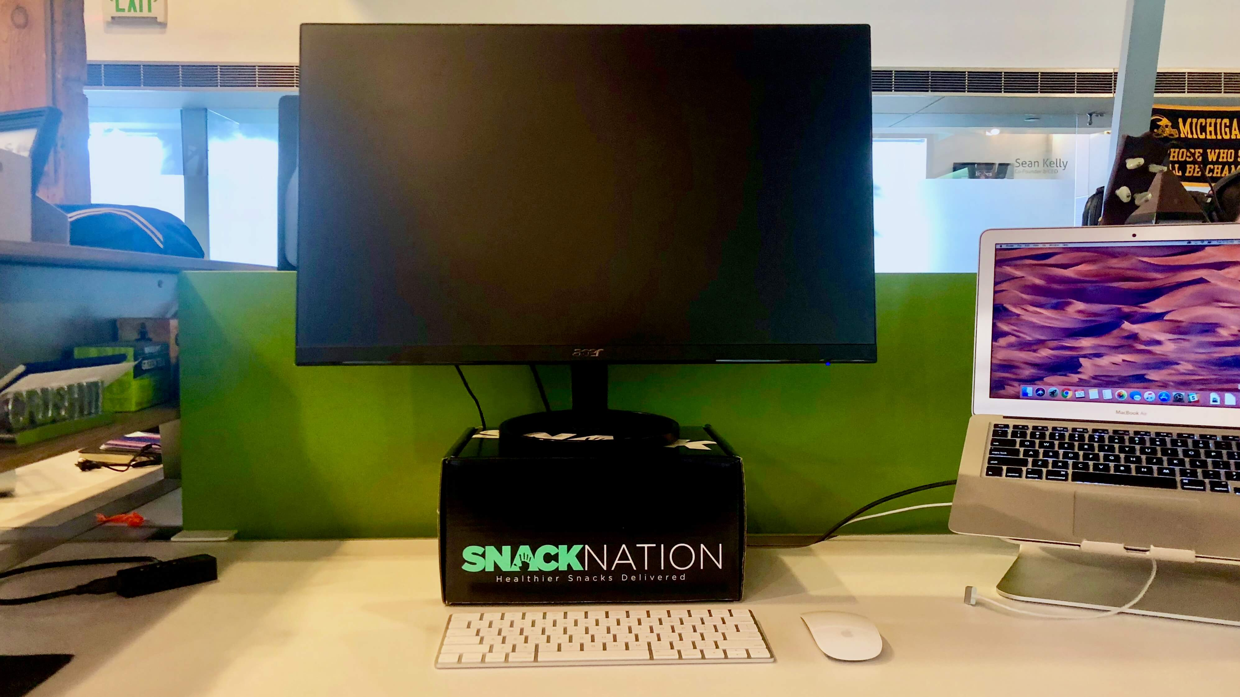 snack box monitor stand