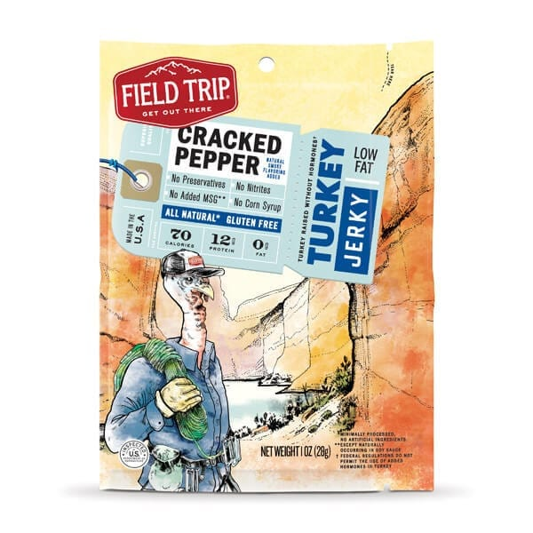 Field TripⓇ Cracked Pepper Free Range Turkey Jerky