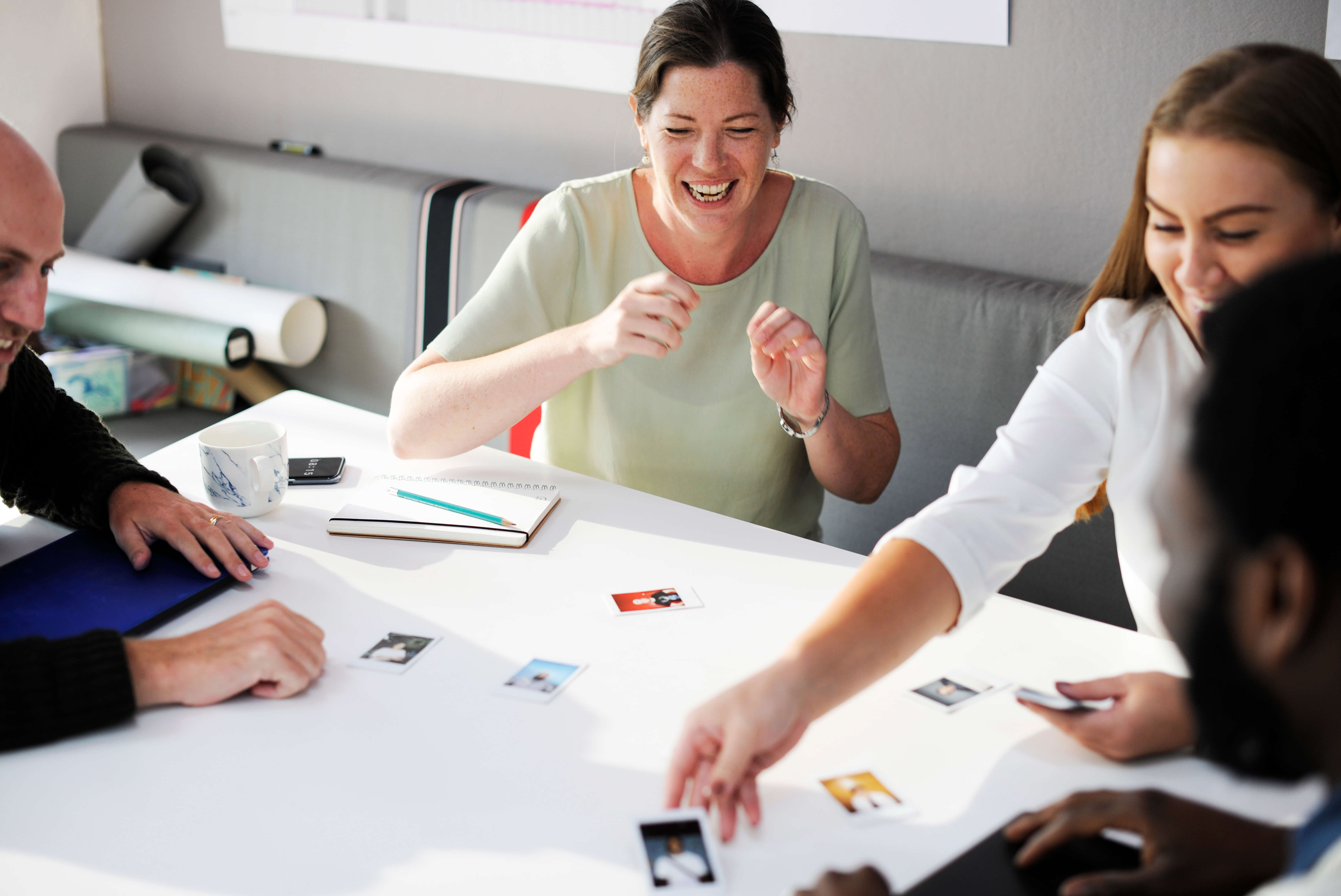 Meeting with cards