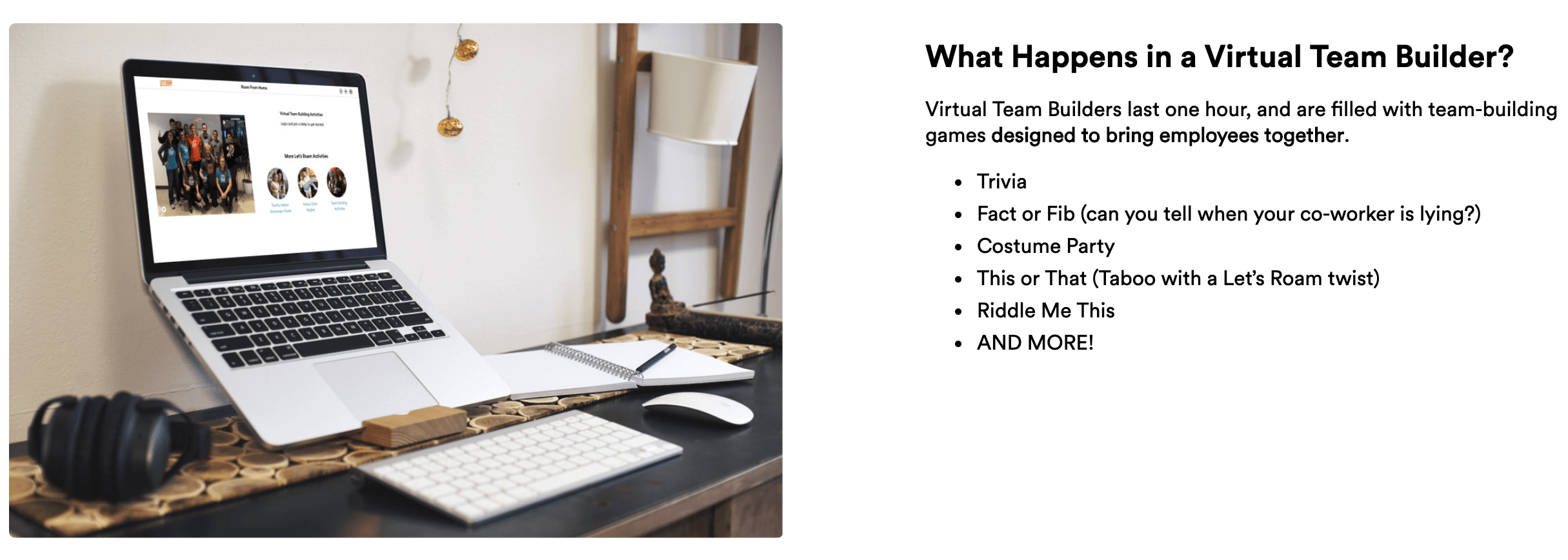 Let's Roam Virtual Team Builder