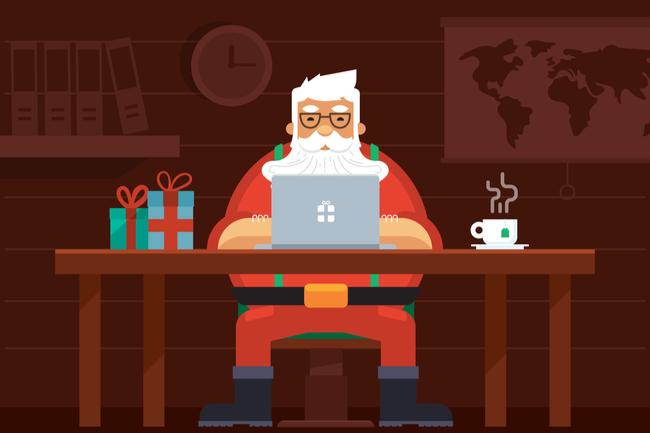 Virtual secret Santa gift exchange
