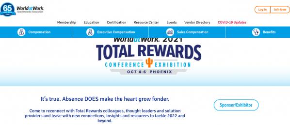 World at Work 2021 Total Rewards Conference