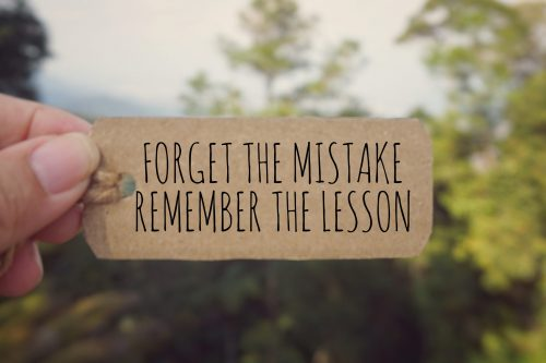 Your employee learned from a past mistake