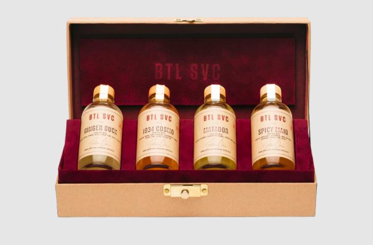 4-Bottle Custom Cocktail Box