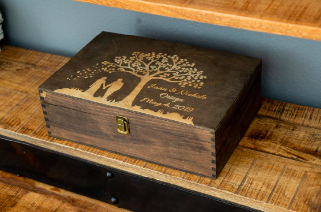 Wooden Engraved Memory Box
