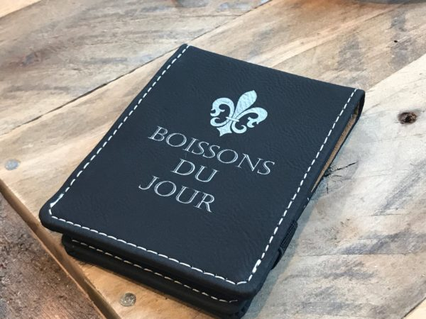 Personalized Leather Pocket Notepad