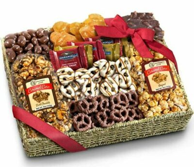 Chocolate Caramel and Crunch Grand Gift Basket for Christmas