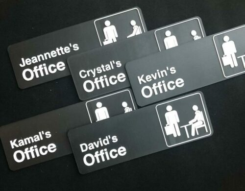 Personalized Office Sign