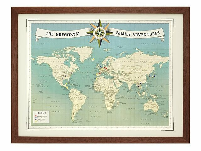 Personalized-Family-Travel-World-Map