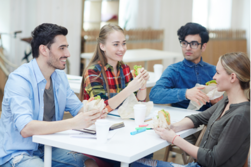 Encourage employees to take breaks and eat lunch